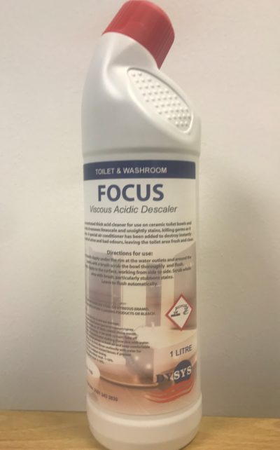 Focus Acidic Toilet Cleaner & Descaler 1 Litre - London ...
